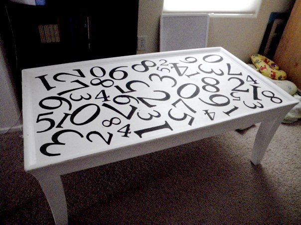 typography coffee table