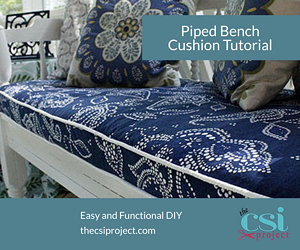 Piped Bench Cushion Tutorial DIY