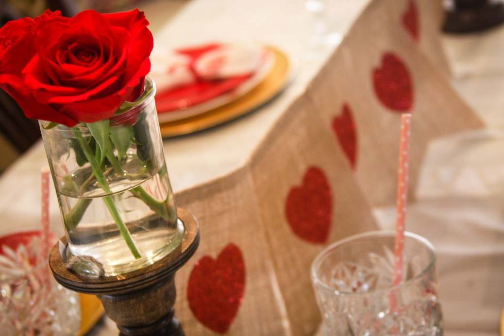 Easy No Fuss Valentine Dinner Table
