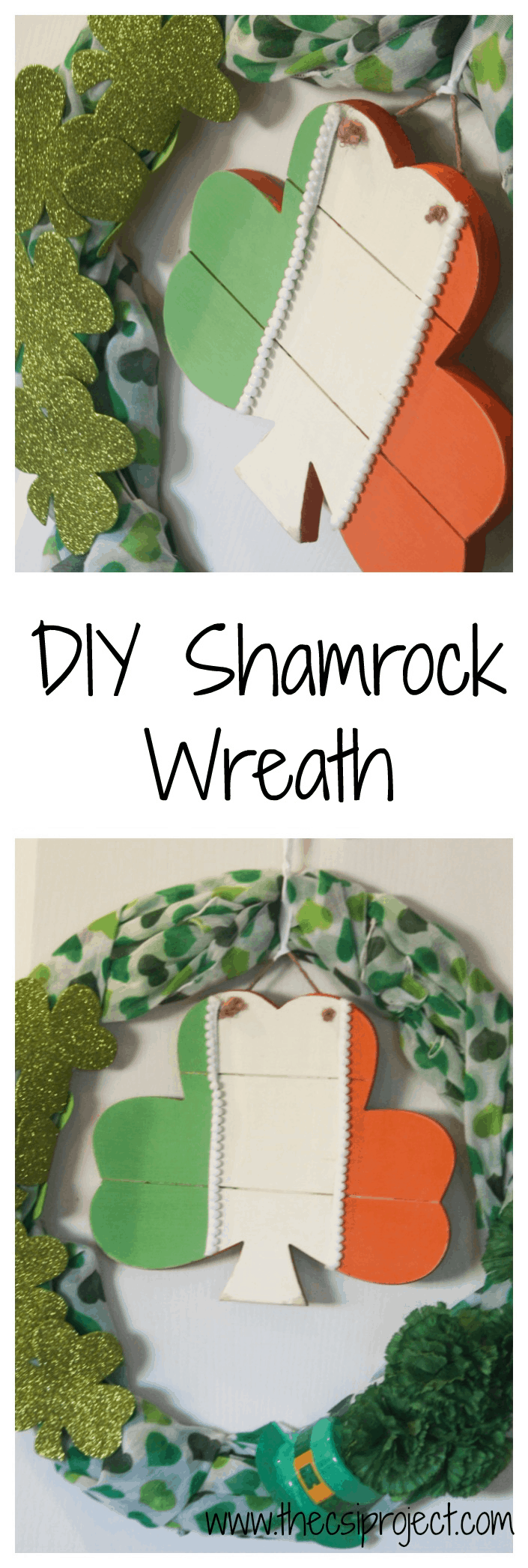 DIY Shamrock Wreath{St. Patrick's Day}