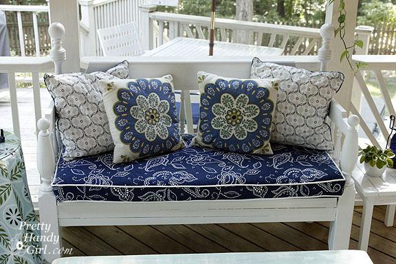 Piped Bench Cushion Tutorial The CSI Project Adorable How To Decorate A Bench With Pillows