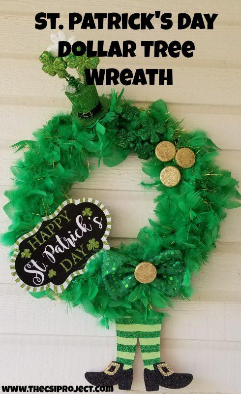 St Patrick S Day Dollar Tree Wreath